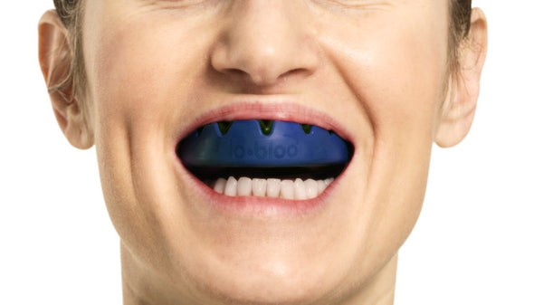 lobloo SLICK Professional Dual Density Mouthguard, One size (+10 yrs), Navy