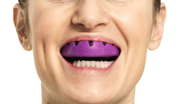 lobloo SLICK Professional Dual Density Mouthguard, One size (+10 yrs), Purple
