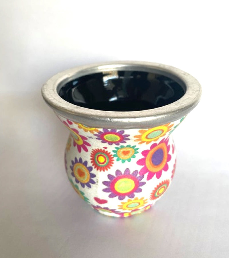 70's Floral Glass Mate Cup