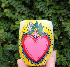 Hand Painted Wood Yerba Mate Cup from Argentina. Drink yerba mate the authentic way using these gorgeous wood mate cups.