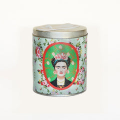 Sky Blue Frida Kahlo Yerba Mate Canister - Soulmate Yerba Co.