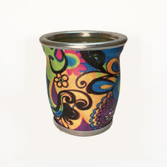 Psychedelic Pattern Glass Mate Cup - Soulmate Yerba Co.