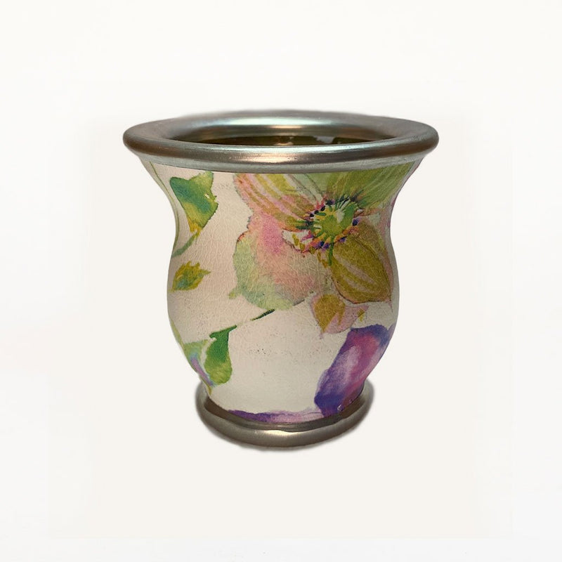 Watercolor Flower Glass Mate Cup - Soulmate Yerba Co.