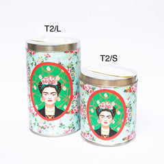 Square Framed Frida Kahlo Yerba Mate loose leaf tea Canister - Soulmate Yerba Co.