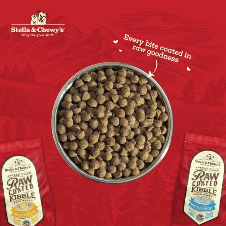 Stella & Chewy's Freeze-Dried Raw Coated Kibble & Biscuits For Dogs