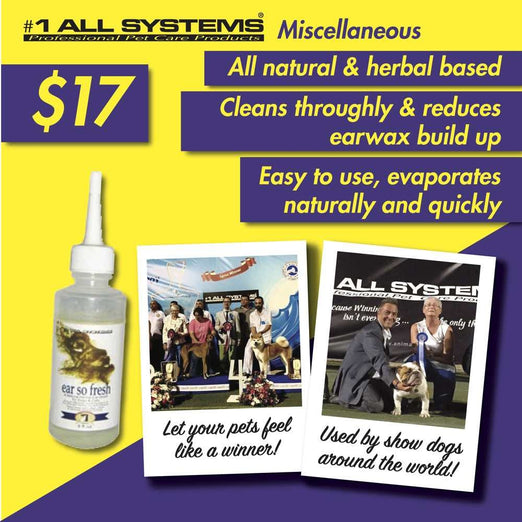 #1 All Systems Ear So Fresh Pet Ear Cleaning Solution