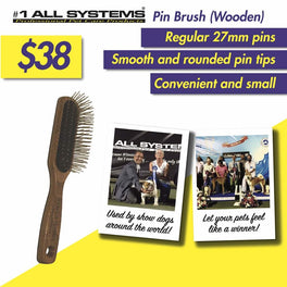 #1 All Systems Large Oblong Pet Pin Brush