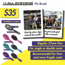 #1 All Systems Large Pet Pin Brush (Purple)