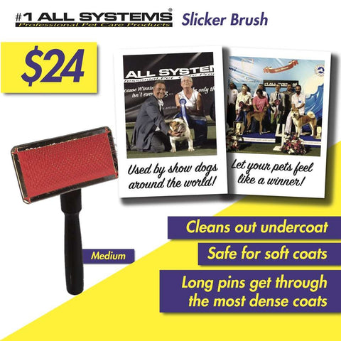 #1 All Systems Medium Pet Slicker Brush
