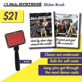 #1 All Systems Small Pet Slicker Brush