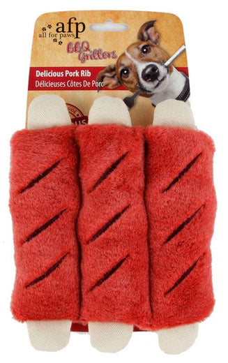 All For Paws Delicious Pork Ribs Dog Toy