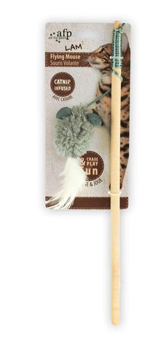 All For Paws Lambswool Flying Mouse Wand Cat Toy