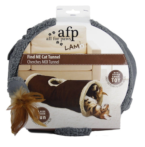 All For Paws Lambswool Find Me Cat Tunnel - Kohepets