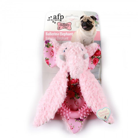 All For Paws Shabby Chic Ballerina Elephant Dog Toy