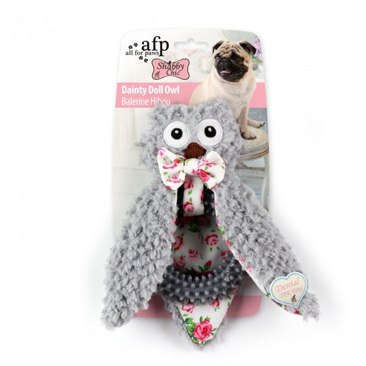 All For Paws Shabby Chic Ballerina Owl Dog Toy