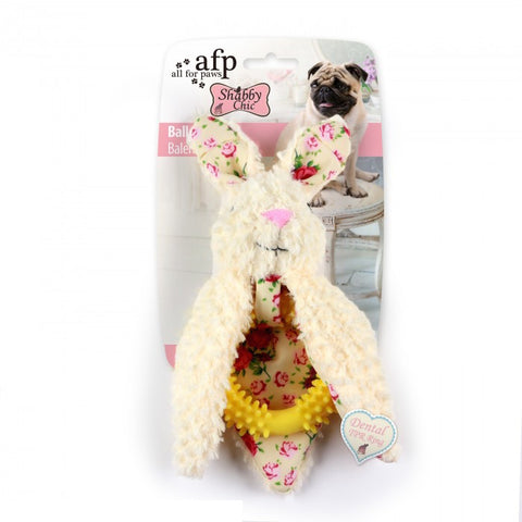 All For Paws Shabby Chic Ballerina Rabbit Dog Toy - Kohepets