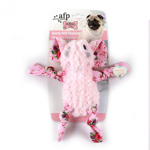 All For Paws Shabby Chic Dainty Doll Elephant Dog Toy - Kohepets
