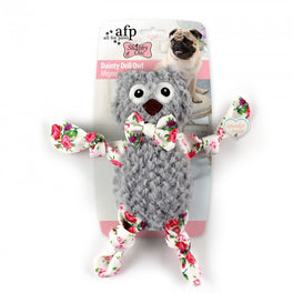 All For Paws Shabby Chic Dainty Doll Owl Dog Toy