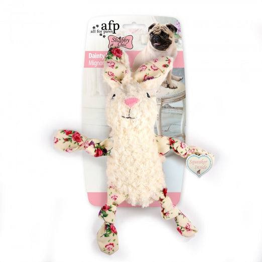 All For Paws Shabby Chic Dainty Doll Rabbit Dog Toy - Kohepets