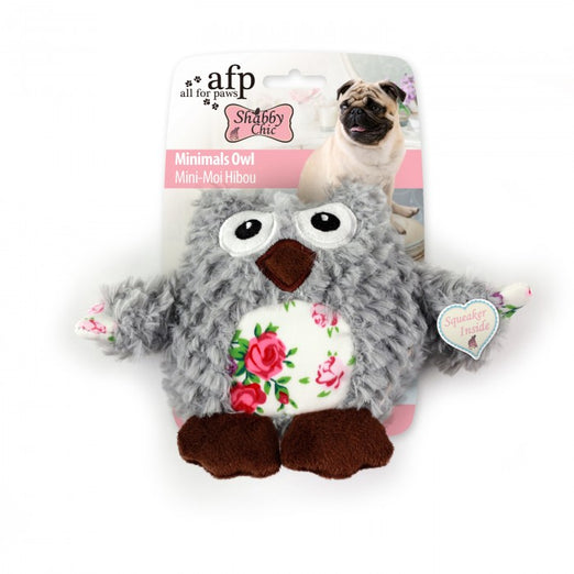 All For Paws Shabby Chic Minimal Owl Dog Toy - Kohepets