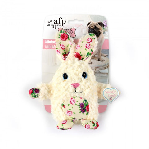 All For Paws Shabby Chic Minimal Rabbit Dog Toy