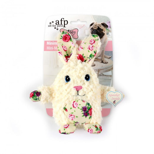 All For Paws Shabby Chic Minimal Rabbit Dog Toy - Kohepets