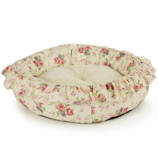 All For Paws Shabby Chic Medium Round Bed