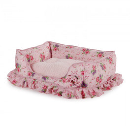 All For Paws Shabby Chic Medium Bolster Bed
