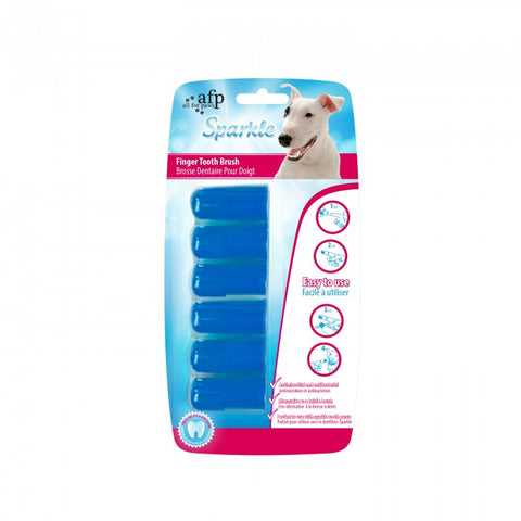 All For Paws Sparkle Finger Toothbrushes 6ct