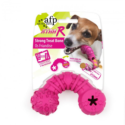 All For Paws Xtra-R Strong Curved Treat Bone Dog Toy - Kohepets