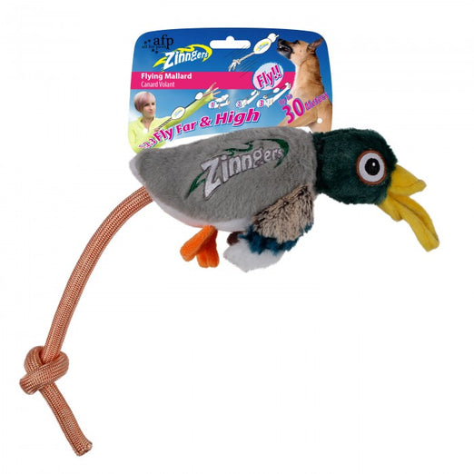 All For Paws Zinngers Flying Mallard Dog Toy - Kohepets
