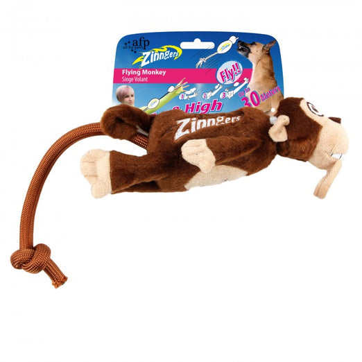 All For Paws Zinngers Flying Monkey Dog Toy - Kohepets
