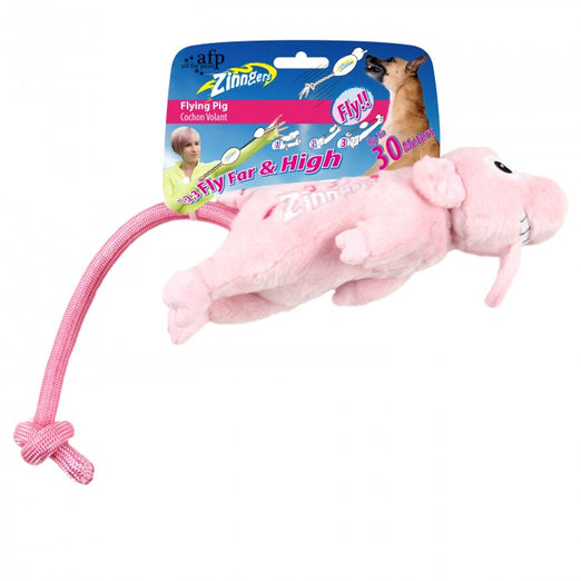 All For Paws Zinngers Flying Pig Dog Toy - Kohepets
