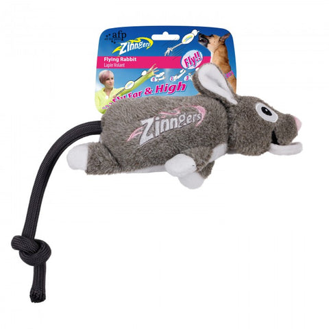 All For Paws Zinngers Flying Rabbit Dog Toy - Kohepets