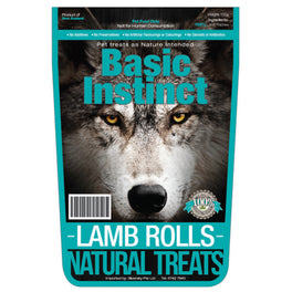 Basic Instinct Lamb Rolls Dog Treats 150g