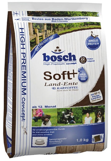 Bosch High Premium Grain Free Soft+ Farm Duck & Potato Dry Dog Food 1kg - Kohepets