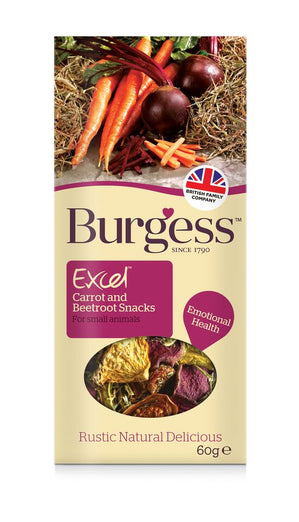 Burgess Excel Carrot & Beetroot Snack For Small Animals 60g - Kohepets