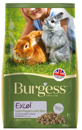 Burgess Excel Light Tasty Nuggets for Overweight Rabbits 2kg