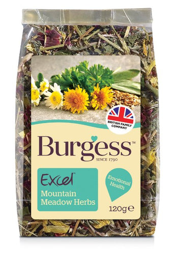 Burgess Excel Mountain Meadow Herbs Nature Snack For Small Animals 120g - Kohepets