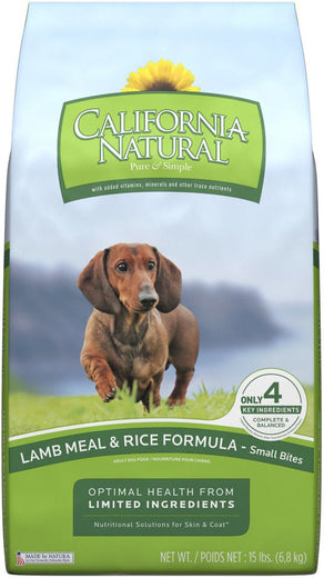 California Natural Lamb Meal & Rice Formula Small Bites Dry Dog Food - Kohepets