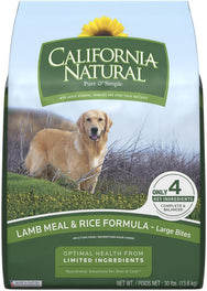 California Natural Lamb Meal & Rice Formula Large Bites Dry Dog Food 30lb