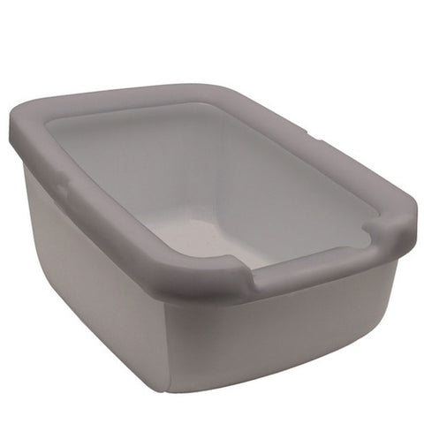 Catit Cat Litter Pan With Litter Shield Rim In Grey