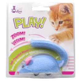 Cat Love Play Zippy Mouse