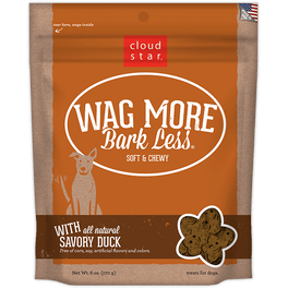 30% OFF: Cloud Star Wag More Bark Less Soft & Chewy Savory Duck Dog Treats 170g