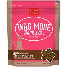 30% OFF: Cloud Star Wag More Bark Less Soft & Chewy Sweet Potatoes Dog Treats 170g