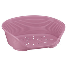 Ferplast Siesta Deluxe Plastic Pet Bed - Pink