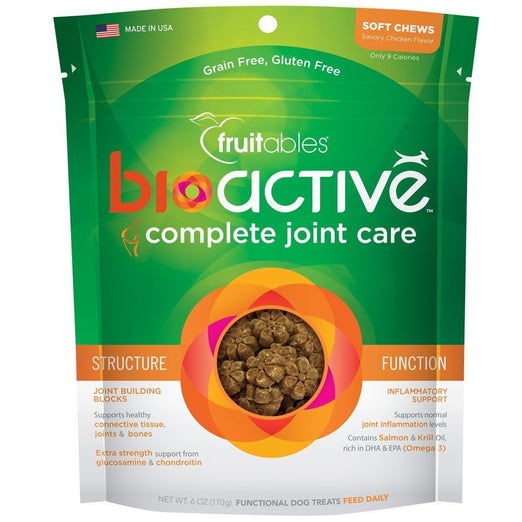 Fruitables BioActive Complete Joint Care Soft Chew Dog Treats 6oz