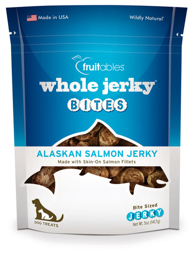 Fruitables Whole Jerky Bites Alaskan Salmon Jerky Dog Treats 5oz