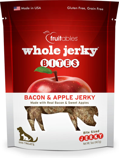 Fruitables Whole Jerky Bites Bacon & Apple Jerky Dog Treats 5oz