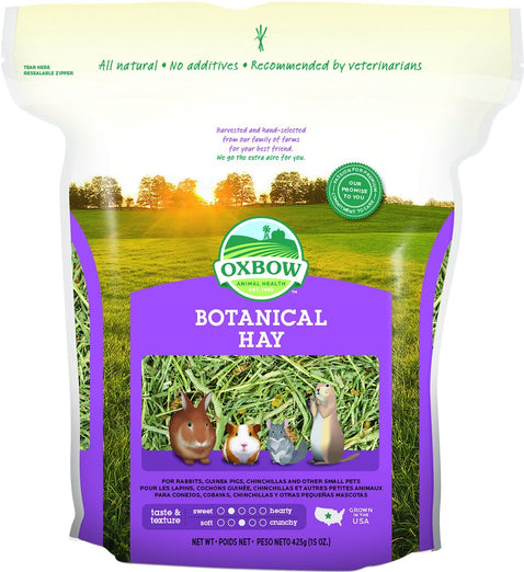 2 FOR $18.30: Oxbow Botanical Hay 15oz - Kohepets